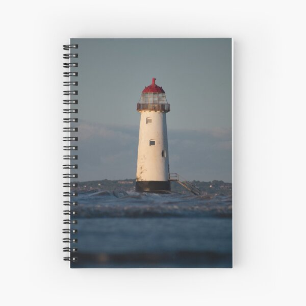 High Tide at Talacre Beach Spiral Notebook