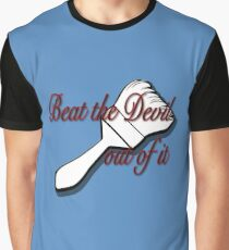 Beat the Devil out of it- Bob Ross Graphic T-Shirt