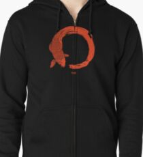 Enso the beauty of imperfection Zipped Hoodie