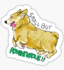 Small But Adventurous! Sticker