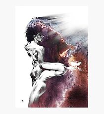 Shadowtwister Formation conté drawing - textured Photographic Print