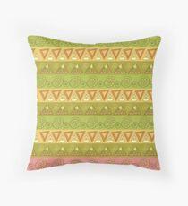 Tribal geometric striped pattern Throw Pillow