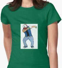 Ash Ketchum Dab Womens Fitted T-Shirt