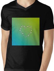 heart of water drops Mens V-Neck T-Shirt