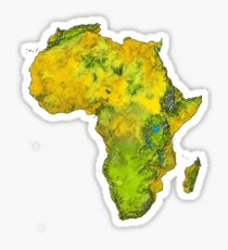 Physical African Continent Sticker