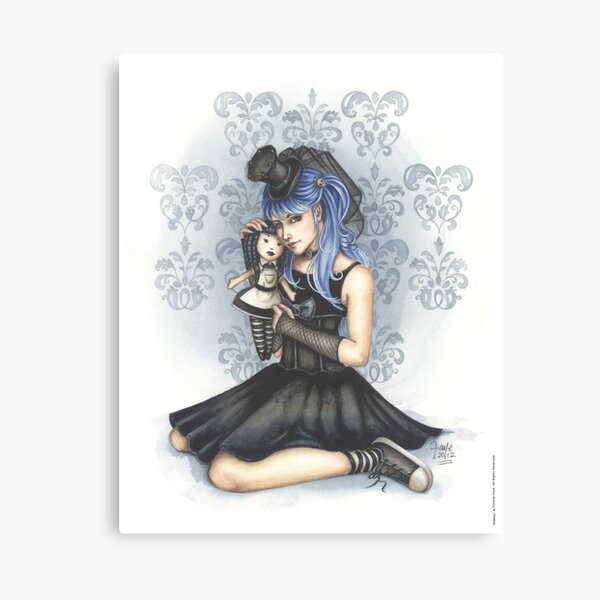Gabby Gothic Girl Canvas Print