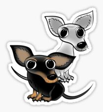 Two wee dogs Sticker
