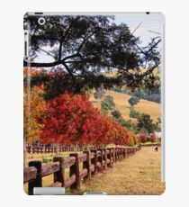 Autumn Trees down a drive way iPad Case/Skin