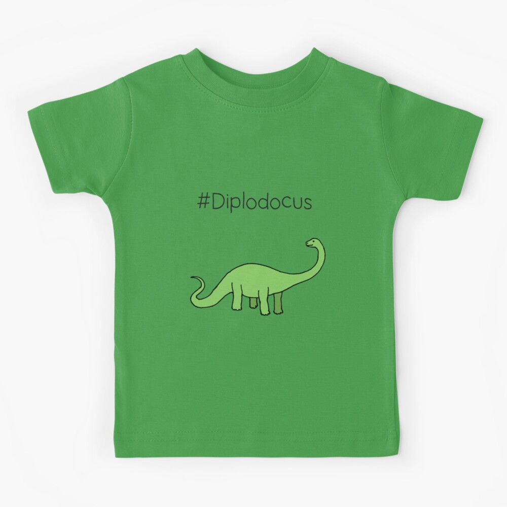 #Diplodocus - dinosaur design by Cecca Designs Kids T-Shirt