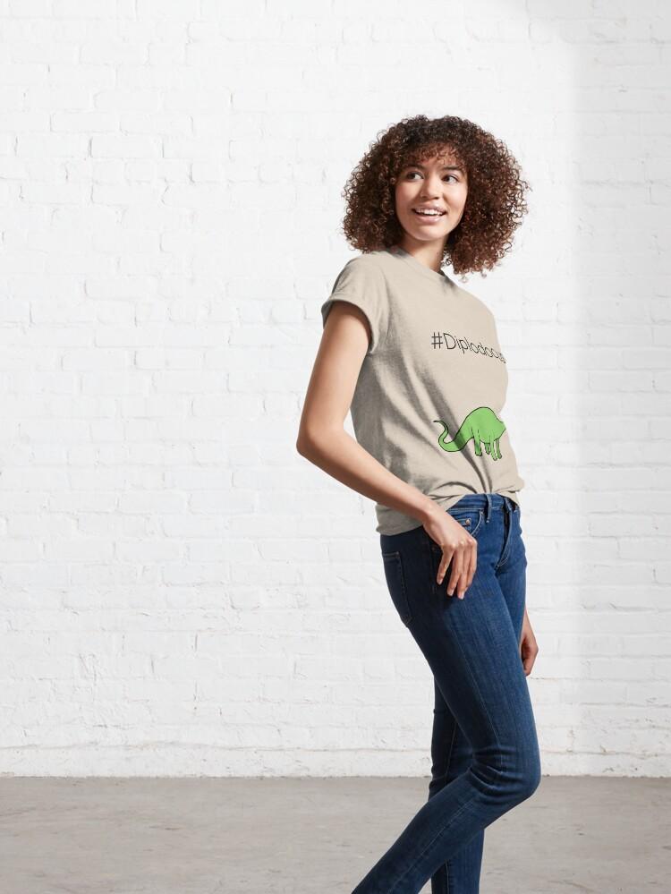 Alternate view of #Diplodocus - dinosaur design by Cecca Designs Classic T-Shirt