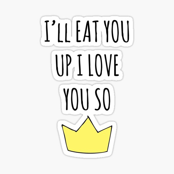 I/'ll Eat Anything You Want Me To Eat vinyl decal sticker Beetlejuice quote