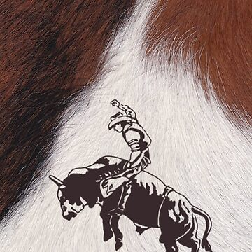 Cowboy Rodeo Bull Riding Cowhide by designsbycclair