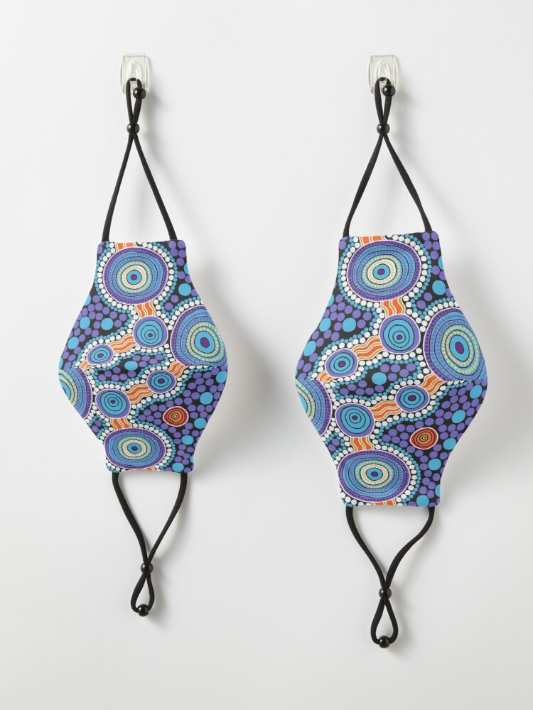 Alternate view of Authentic Aboriginal Art - The Journey Blue Mask