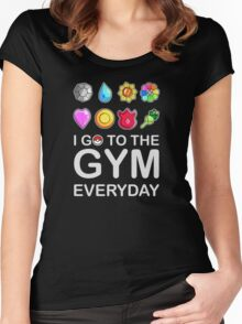 I go to the GYM everyday Women's Fitted Scoop T-Shirt