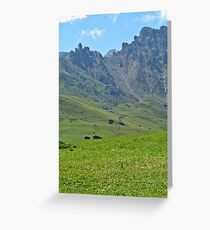 Green mountains (Italy)2 Greeting Card