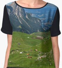 View from the top of a mountain Women's Chiffon Top