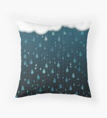 Rainy Day Print Throw Pillow