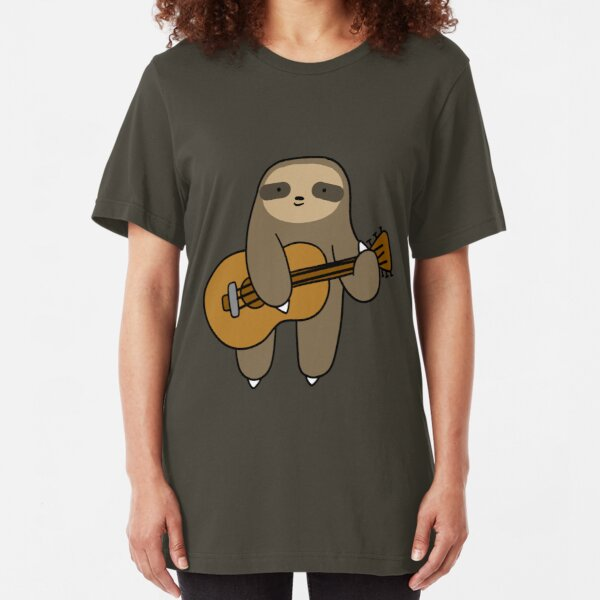 Guitar Sloth Slim Fit T-Shirt