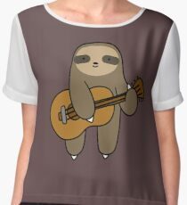 Guitar Sloth Chiffon Top