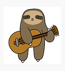 Guitar Sloth Photographic Print