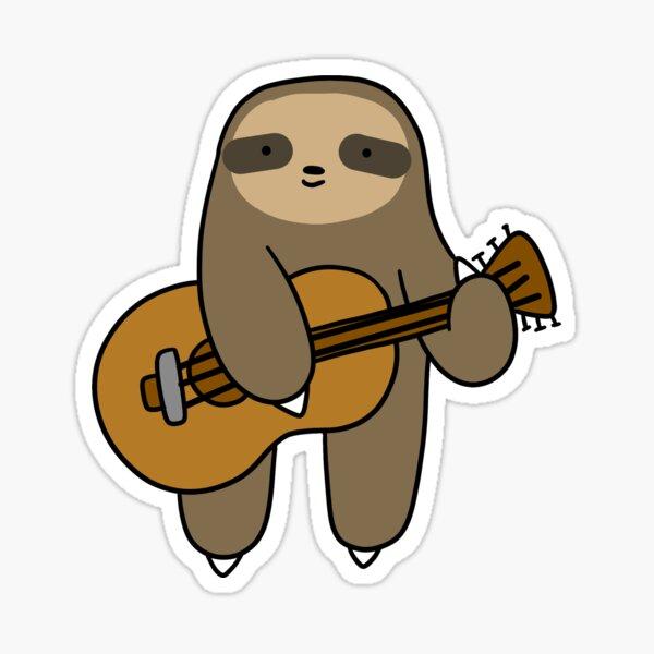 Guitar Sloth Sticker