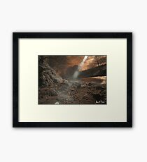 Infrared Landscape Raw Framed Print