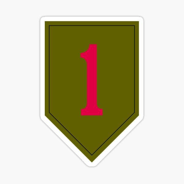 """1st Infantry Division """"The Big Red One"""" (United States Army) Sticker"""