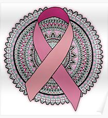 Breast Cancer  Ribbon  Poster