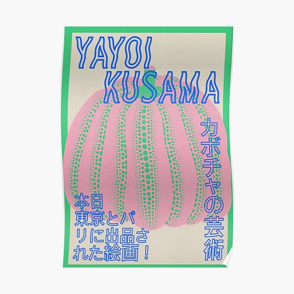Rosa Yayoi Kusama Póster