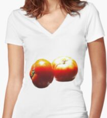 Kissed by the Sun !  Women's Fitted V-Neck T-Shirt