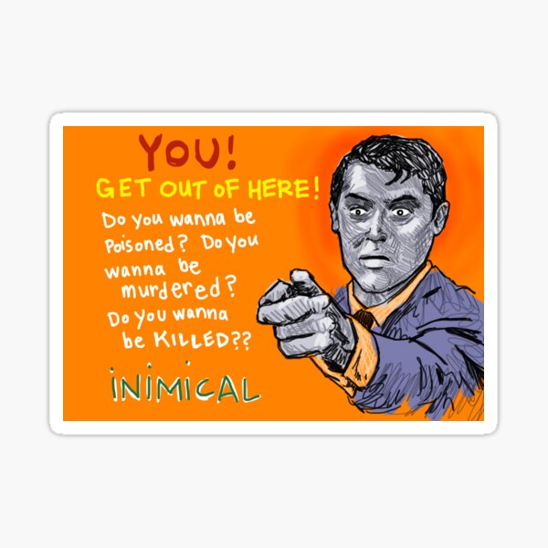 Inimical - Cary Grant Sticker