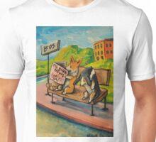 Welsh Pembroke Corgi~Cardigan~DOG~Bus Stop~FRIENDS Unisex T-Shirt