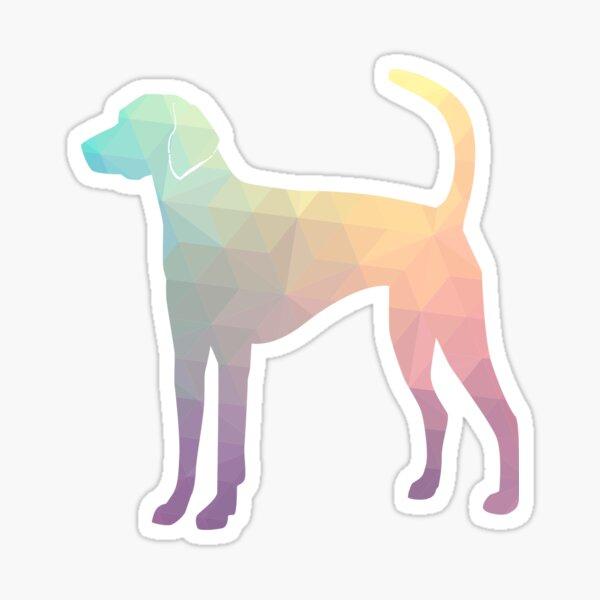 American Foxhound - Colorful Geometric Pattern Silhouette - Pastel Sticker