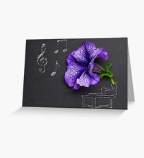 Beauty of music. Greeting Card