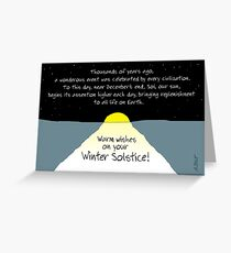 Warm Wishes on Your Winter Solstice! Greeting Card