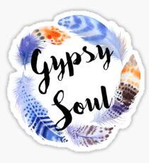 Boho Gypsy Soul Feather Wreath Sticker