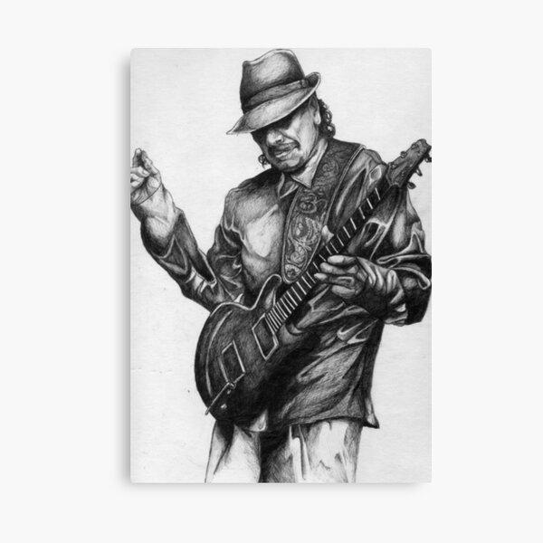 Carlos Santana Drawing  Canvas Print