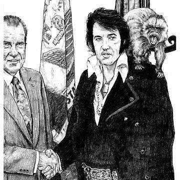 Elvis & Nixon by walterdoe