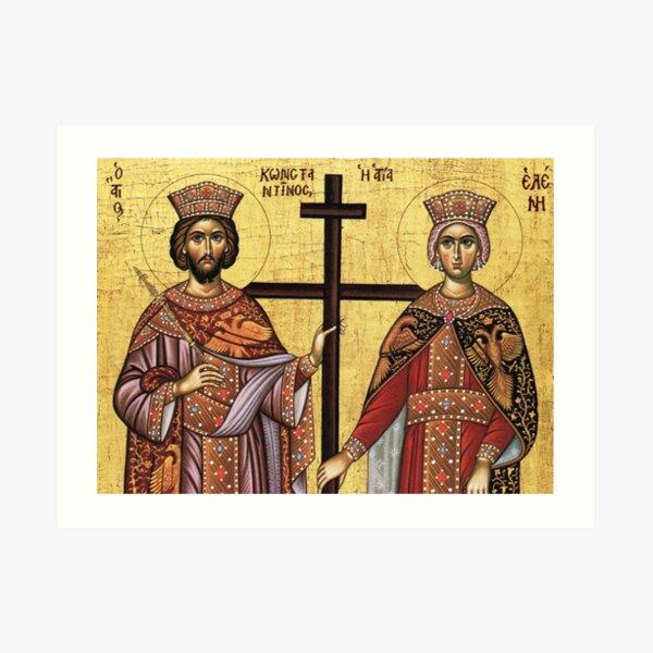 St Costantine and St Helen Art Print