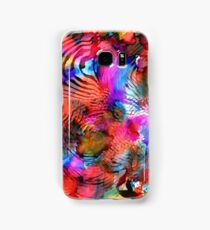 Fuschia Pink Red Yellow Surrealism Futurism Painting Samsung Galaxy Case/Skin