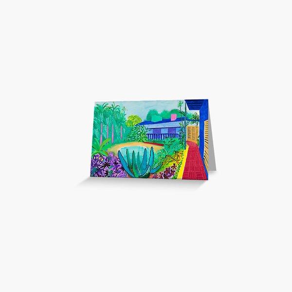 Garden Blue Greeting Card