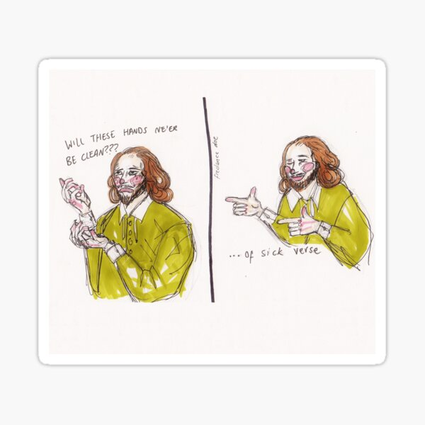 Shakespeare Sick Verse Sticker