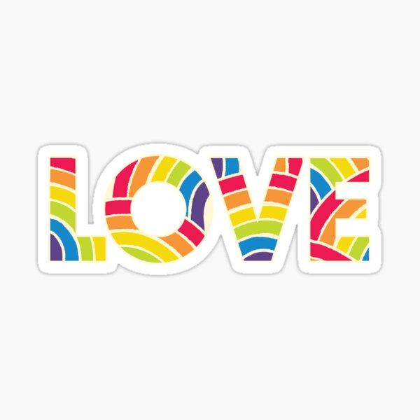Rainbow Pride Love Sticker