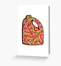 Watermelon Bleach Greeting Card