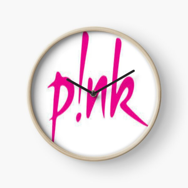 Pink beautiful trauma Clock