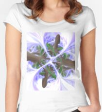 Foggy Dawn (Under The Trees) Women's Fitted Scoop T-Shirt