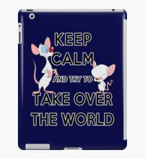 Keep Calm and Try to Take Over the World iPad Case/Skin