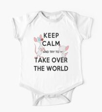 Keep Calm and Try to Take Over the World One Piece - Short Sleeve