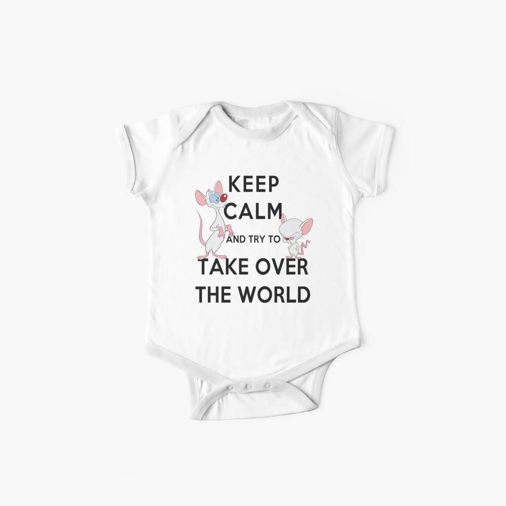 Bleib ruhig und versuche, die Welt zu erobern Baby Body