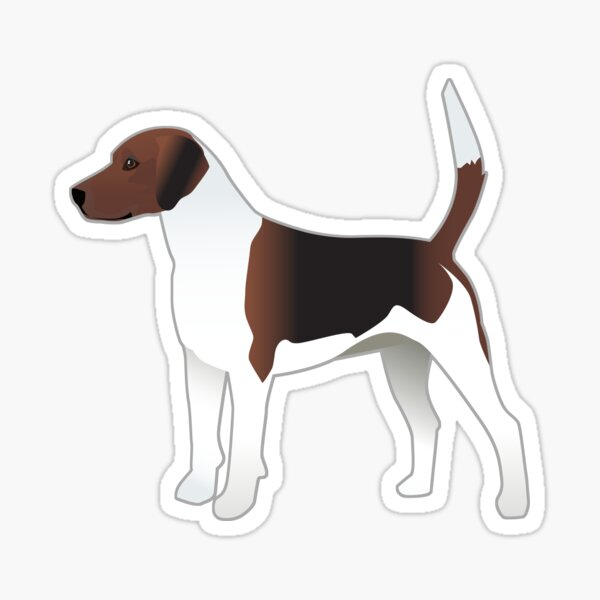 Harrier Hound Basic Breed Silhouette Sticker